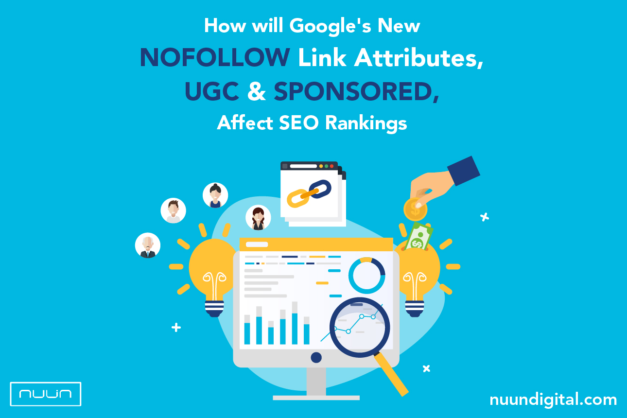 How will Google's new nofollow link attributes, ugc and sponsored, affect SEO rankings?